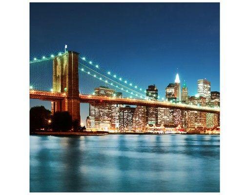 Beistelltisch - Nighttime Manhattan Bridge