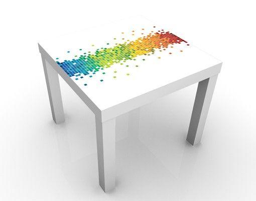 Beistelltisch - Pixel-Regenbogen