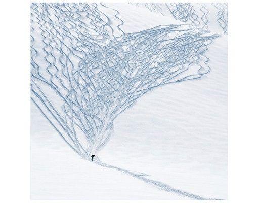 Beistelltisch - Skifahrer in den Alpen