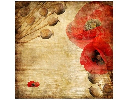 Beistelltisch - Poppy Flower
