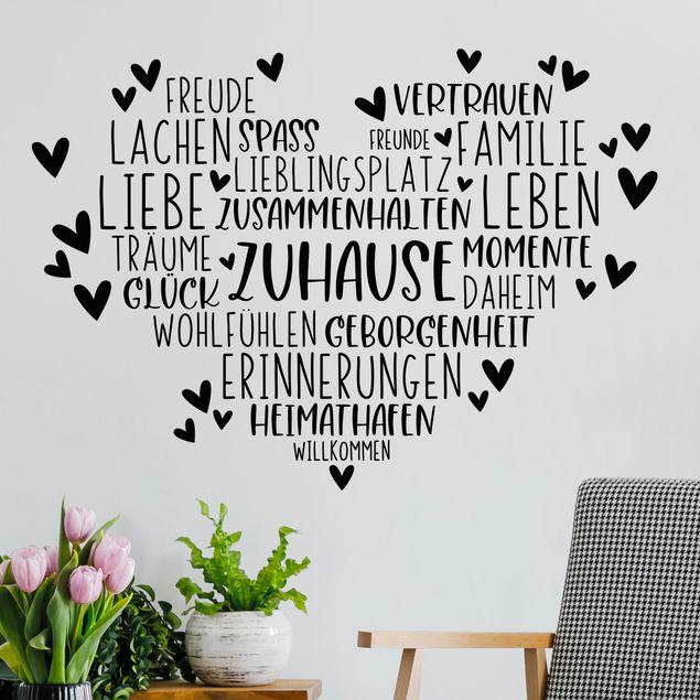 Wandtattoo - Herz Zuhause