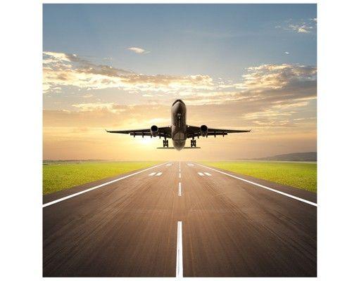 Beistelltisch - Startendes Flugzeug