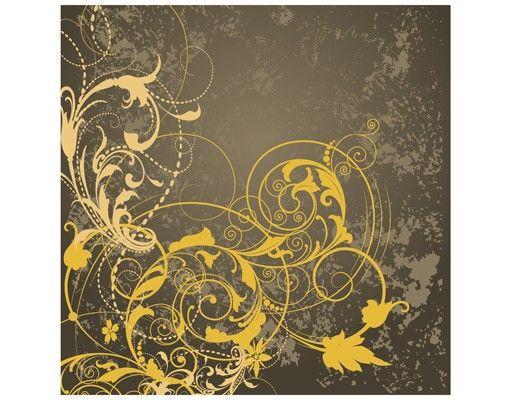 Beistelltisch - Schnörkel in Gold