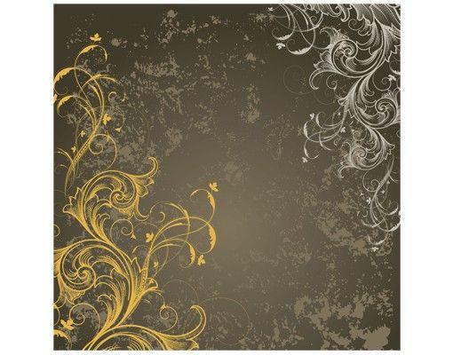 Beistelltisch - Schnörkel in Gold und Silber