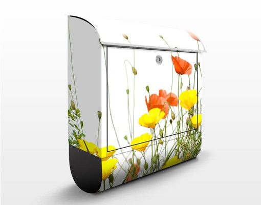 Briefkasten mit Zeitungsfach - Wild Flowers - Briefkasten Blumen