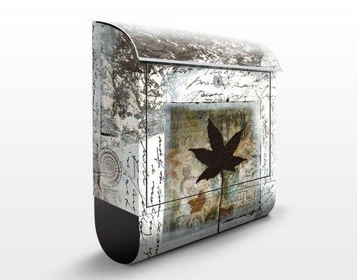 Briefkasten Vintage - Silvery Memories - Briefkasten mit Zeitungsrolle