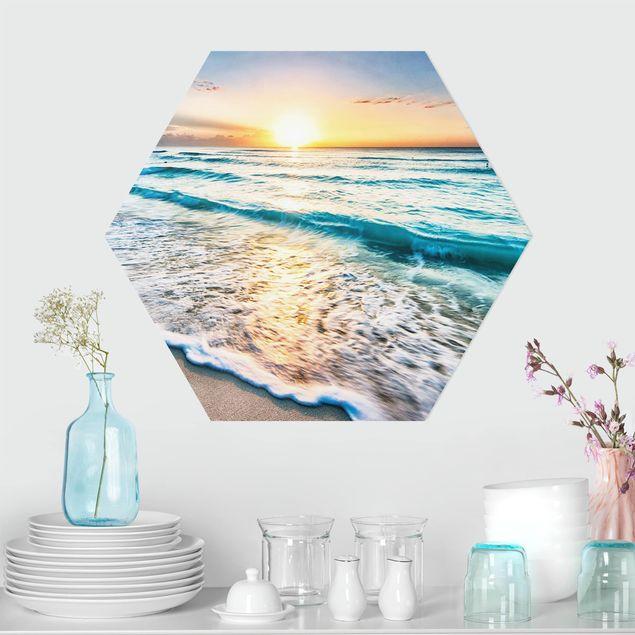 Hexagon Bild Forex - Sonnenuntergang am Strand
