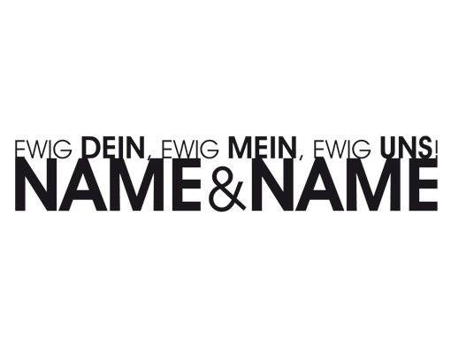 Wandtattoo Sprüche - Wandtattoo Namen No.PP15 Wunschtext Modern Love