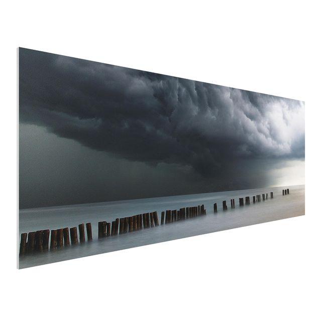 Forex Fine Art Print - Sturmwolken über der Ostsee - Panorama