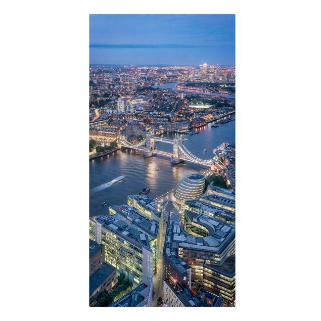 Leinwandbild - Nachts in London - Hochformat 1:2