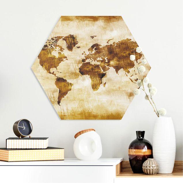Hexagon Bild Forex - No.CG75 Map of the World