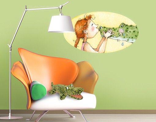 Wandtattoo Babyzimmer Gloriflora und das Krokodil Gustav