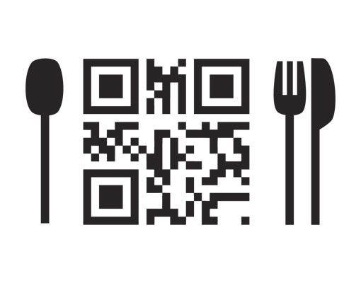 Wandtattoo No.UL1004 QR-Code Guten Appetit