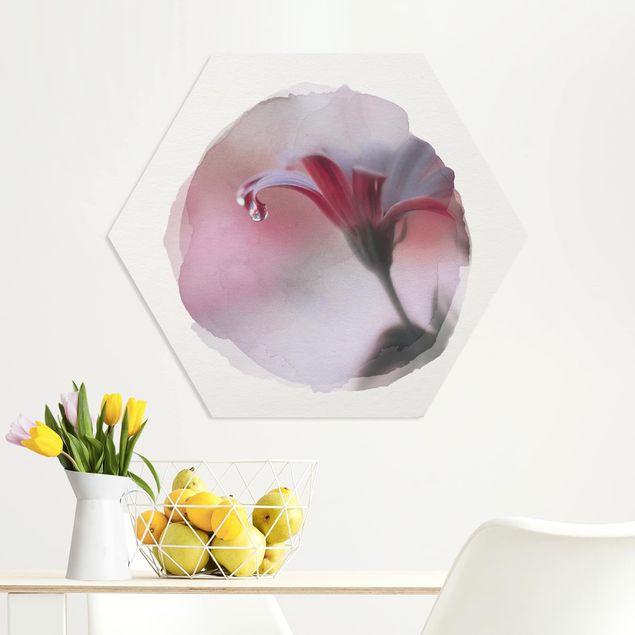 Hexagon Bild Forex - Wasserfarben - Invisible Touch