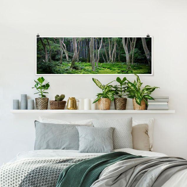 Poster - Japanischer Wald - Panorama Querformat