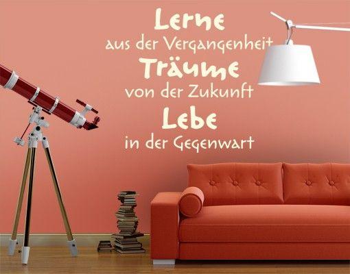 Wandtattoo Sprüche - Wandsprüche No.EK219 Lebe Lerne Träume