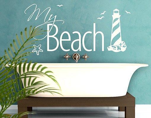 Wandtattoo Sprüche - Wandworte No.EK375 My Beach