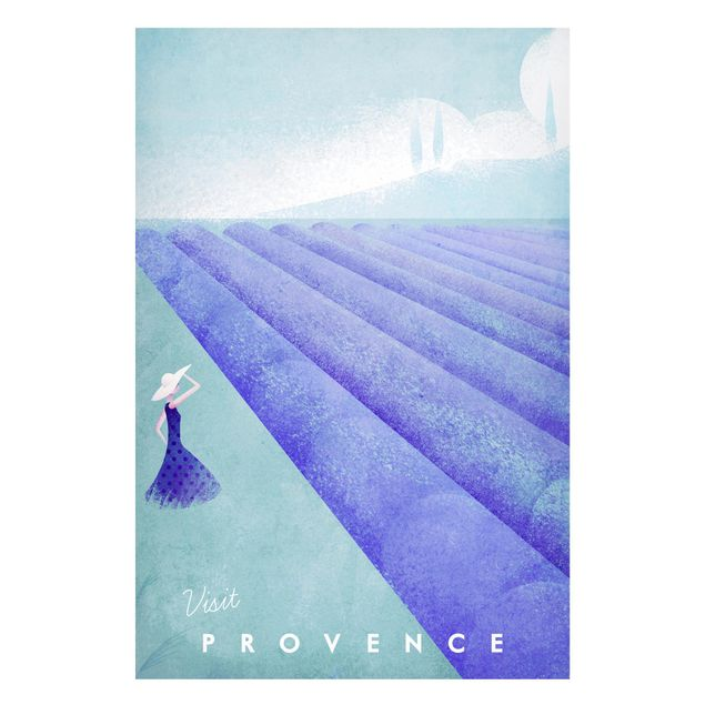 Magnettafel - Reiseposter - Provence - Memoboard Hochformat 3:2
