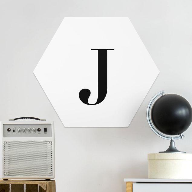 Hexagon Bild Forex - Buchstabe Serif Weiß J