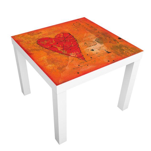 Möbelfolie für IKEA Lack - Klebefolie Love Letter