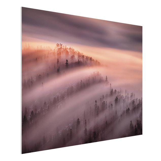 Forex Fine Art Print - Nebelflut - Querformat 3:4