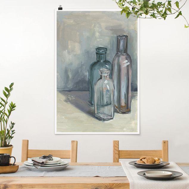 Poster - Stillleben mit Glasflaschen I - Hochformat 3:2