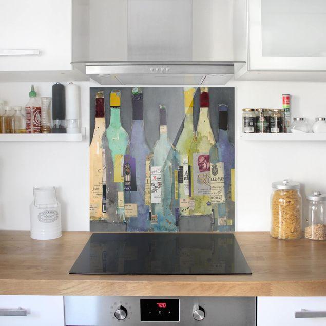 Glas Spritzschutz - Entkorkt - Spirituosen - Quadrat - 1:1