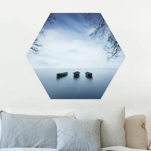 Hexagon Bild Forex - Ruhe auf dem See