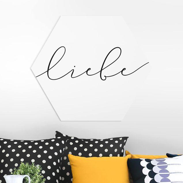 Hexagon Bild Forex - Liebe Kalligraphie