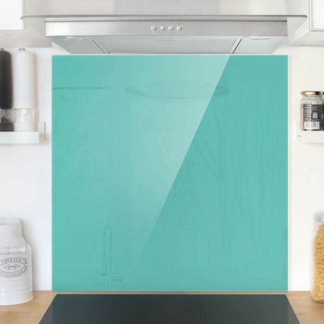 Glas Spritzschutz - Türkis - Quadrat - 1:1