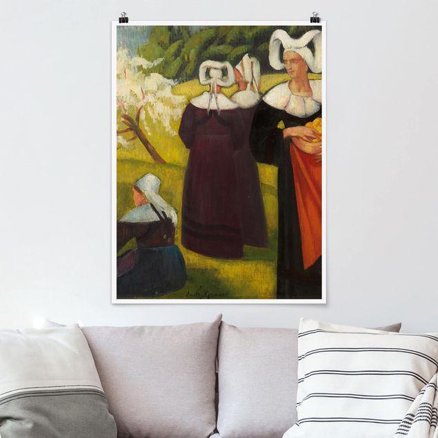 Poster - Emile Bernard - Apfelpflückerinnen in Pont-Aven - Hochformat 3:4