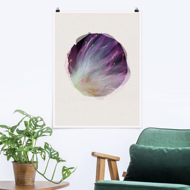 Poster - Wasserfarben - Blütenstaub - Hochformat 4:3