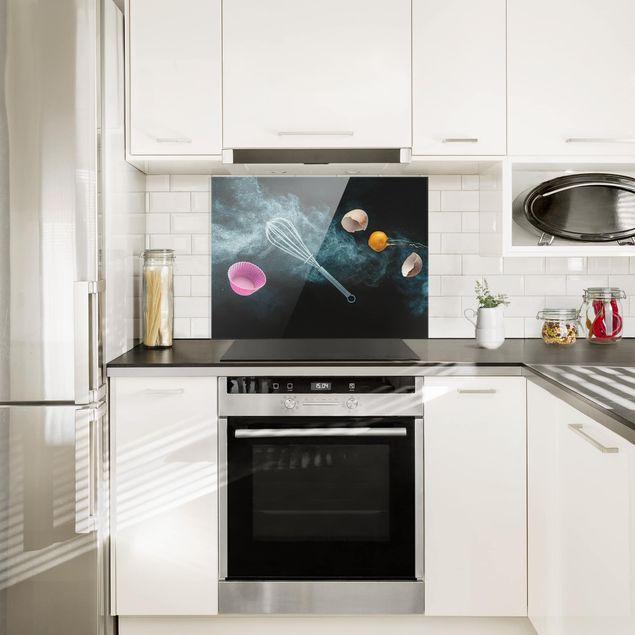 Glas Spritzschutz - Chaos in der Küche - Querformat - 4:3