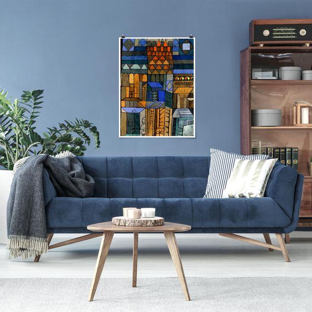 Poster - Paul Klee - Beginnende Kühle - Hochformat 3:4
