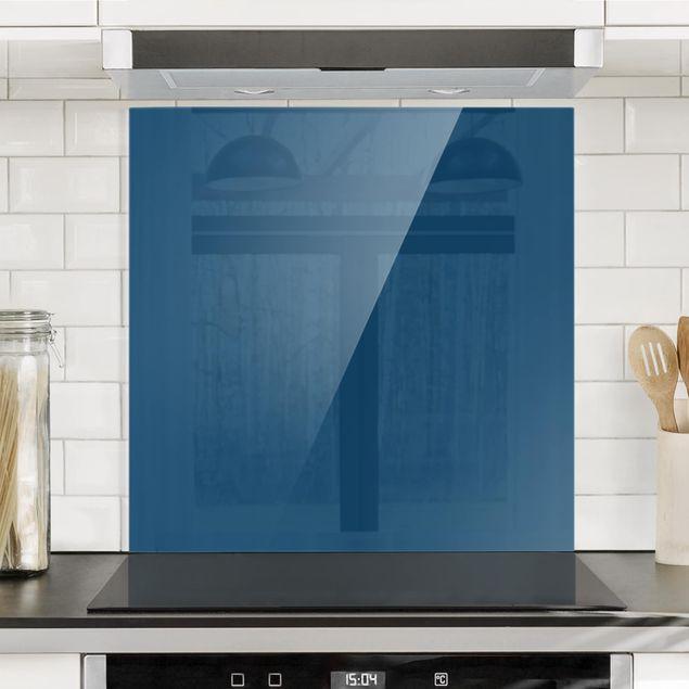 Glas Spritzschutz - Preussisch-Blau - Quadrat - 1:1