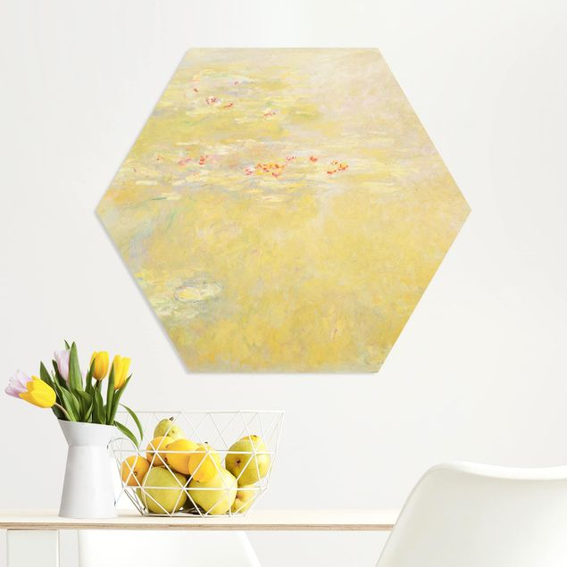 Hexagon Bild Forex - Claude Monet - Seerosenteich