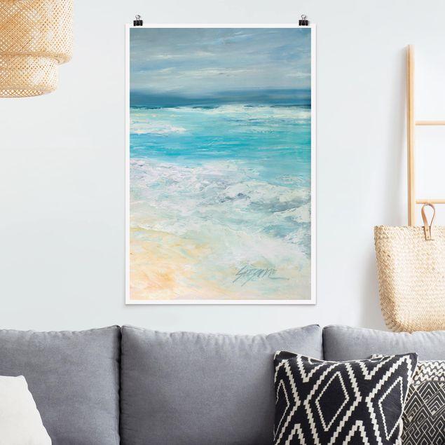 Poster - Sturm auf dem Meer II - Hochformat 3:2