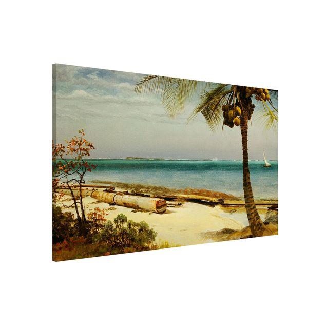 Magnettafel - Albert Bierstadt - Küste in den Tropen - Memoboard Querformat 2:3