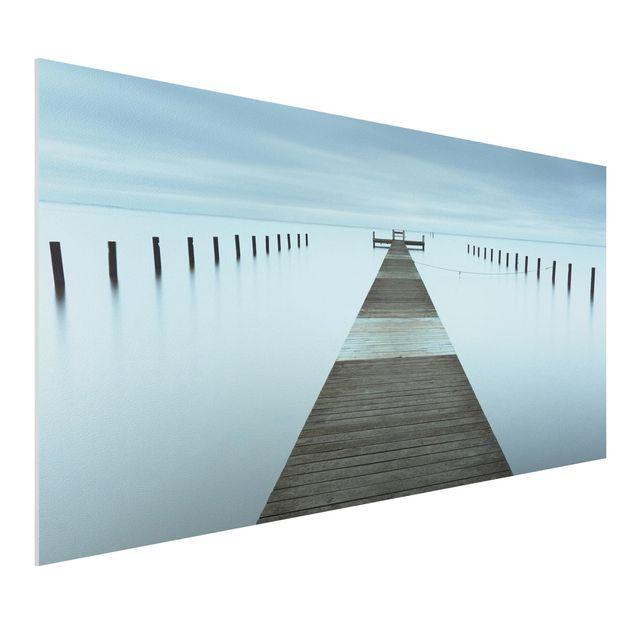 Forex Fine Art Print - Pier in Schweden - Querformat 1:2
