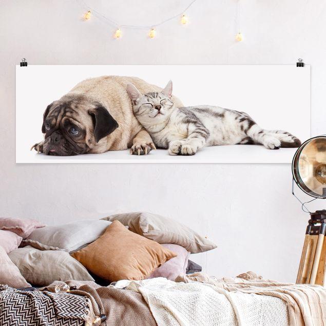 Poster - Beste Freunde - Panorama Querformat