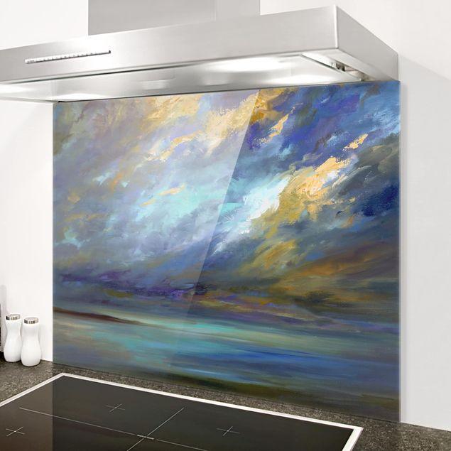 Glas Spritzschutz - Himmel über Küste - Querformat - 4:3
