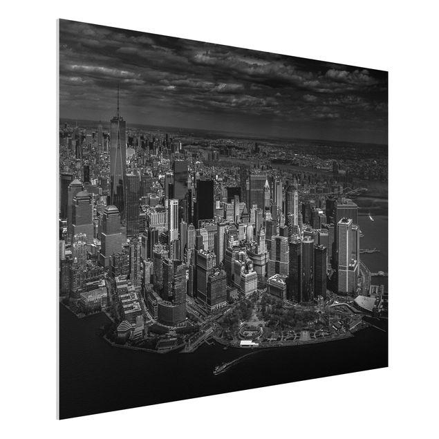 Forex Fine Art Print - New York - Manhattan aus der Luft - Querformat 3:4