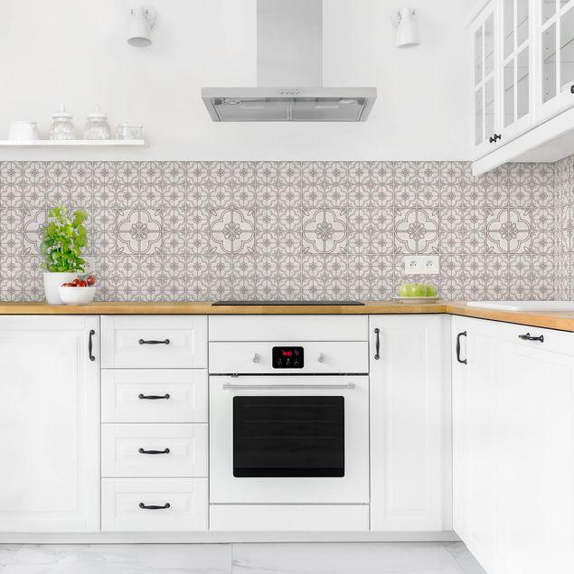 Küchenrückwand - Fliesenmuster Lagos grau