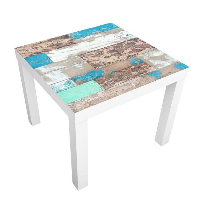 Möbelfolie für IKEA Lack - Klebefolie Maritime Planks