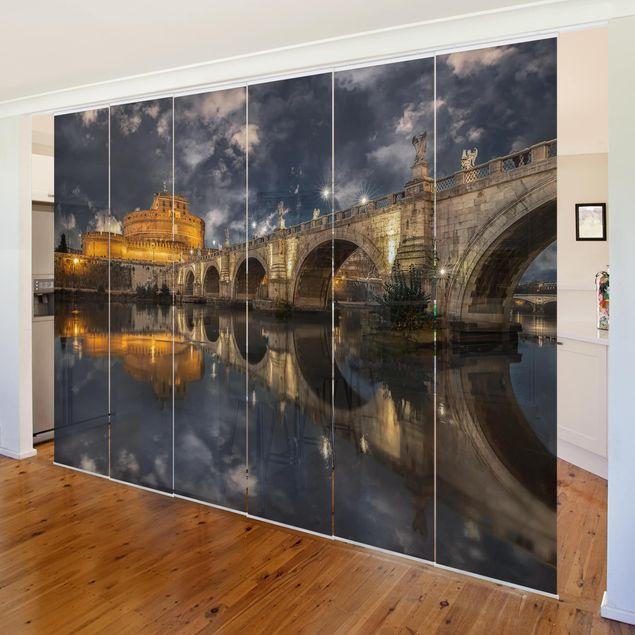 Schiebegardinen Set - Ponte Sant'Angelo in Rom - Flächenvorhänge