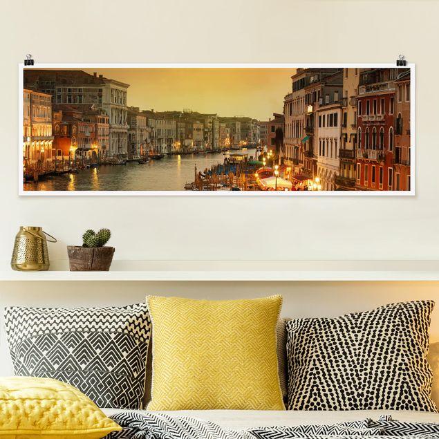 Poster - Großer Kanal von Venedig - Panorama Querformat