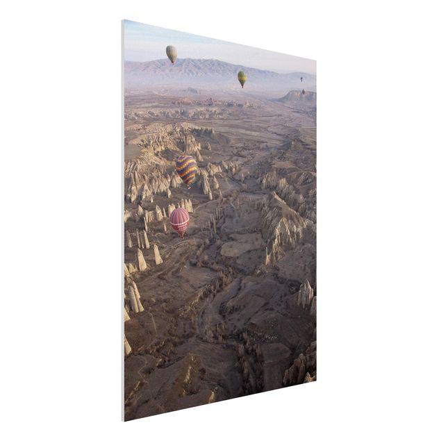 Forex Fine Art Print - Heißluftballons über Anatolien - Hochformat 4:3