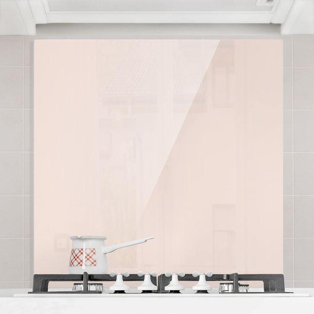 Glas Spritzschutz - Perlmutt - Quadrat - 1:1