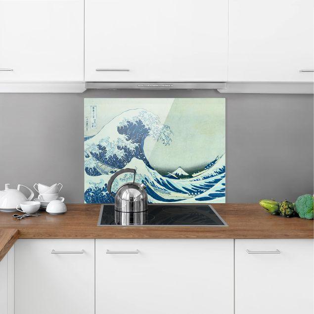 Glas Spritzschutz - Katsushika Hokusai - Die grosse Welle von Kanagawa - Querformat - 4:3