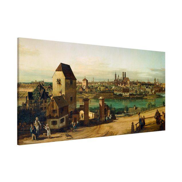 Magnettafel - Bernardo Bellotto - München - Memoboard Panorama Querformat 1:2